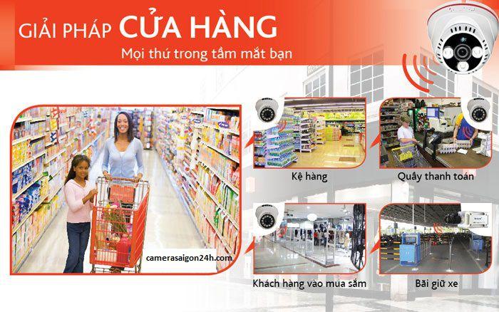 lắp đặt camera quan sát trong siêu thị giải pháp ổn định